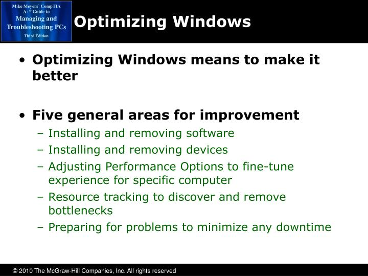 Optimizing Windows