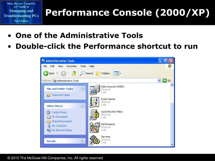 Performance Console (2000/XP)