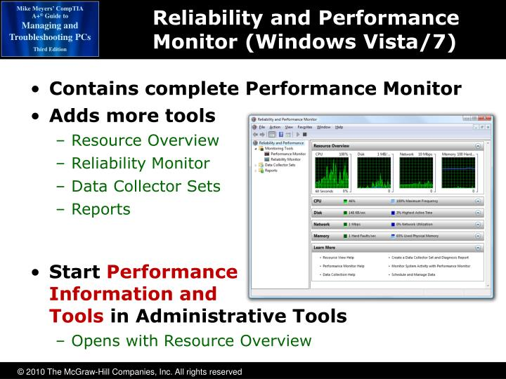 Reliability and Performance Monitor (Windows Vista/7)