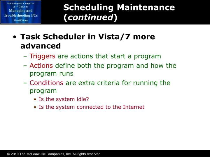 Scheduling Maintenance (