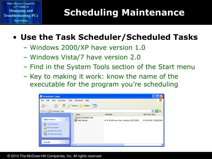 Scheduling Maintenance