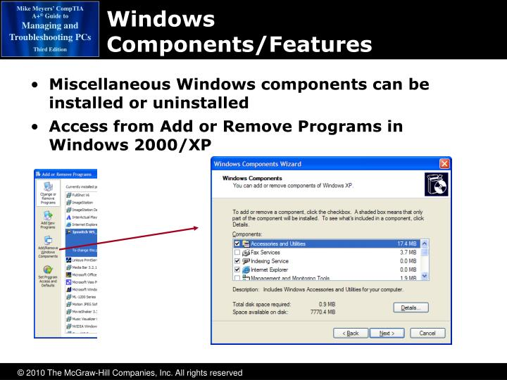 Windows Components/Features