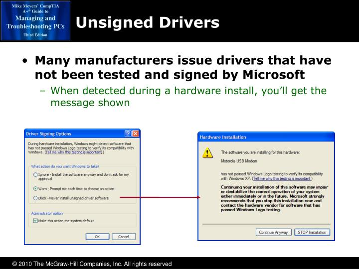 Unsigned Drivers