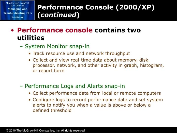 Performance Console (2000/XP) (