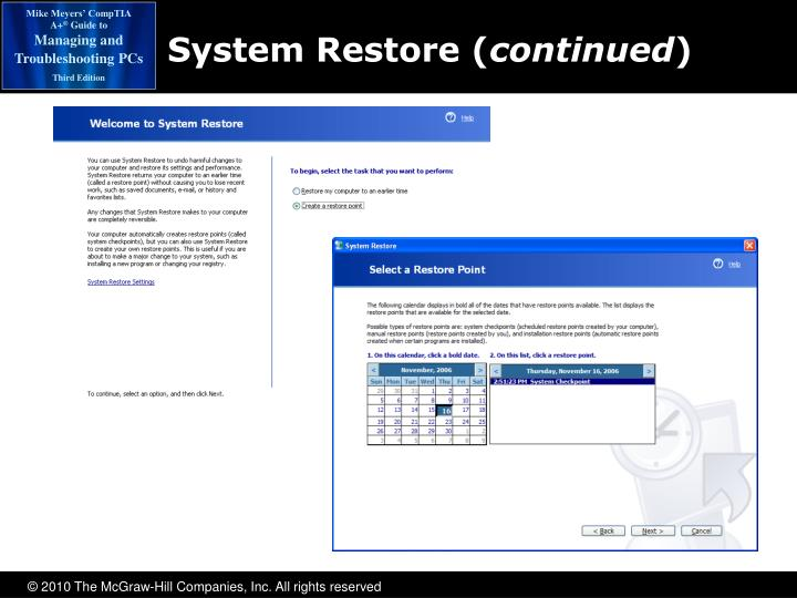 System Restore (