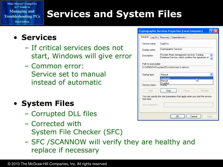 Services and System Files