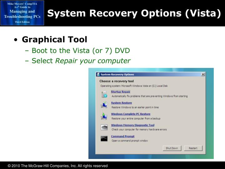 System Recovery Options (Vista)