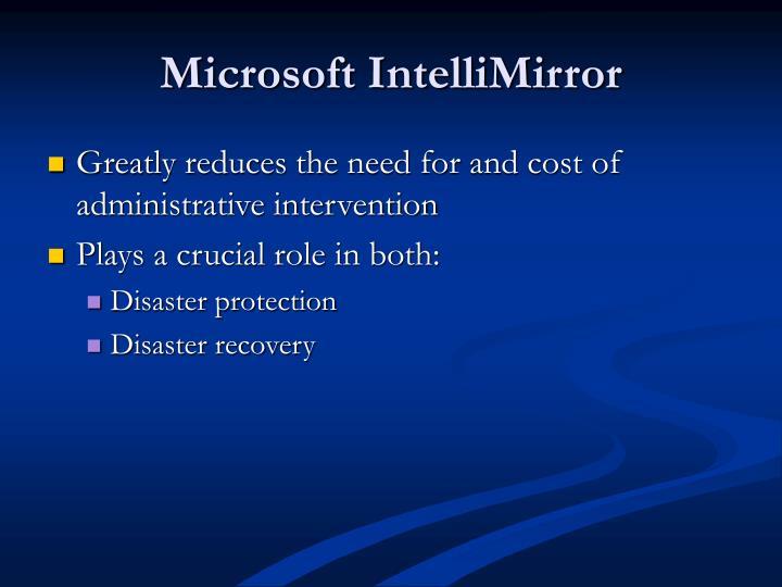 Microsoft IntelliMirror