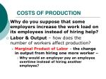costs of production1