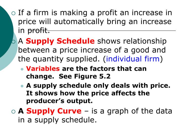 If a firm is making a profit an increase in price will automatically bring an increase in profit.