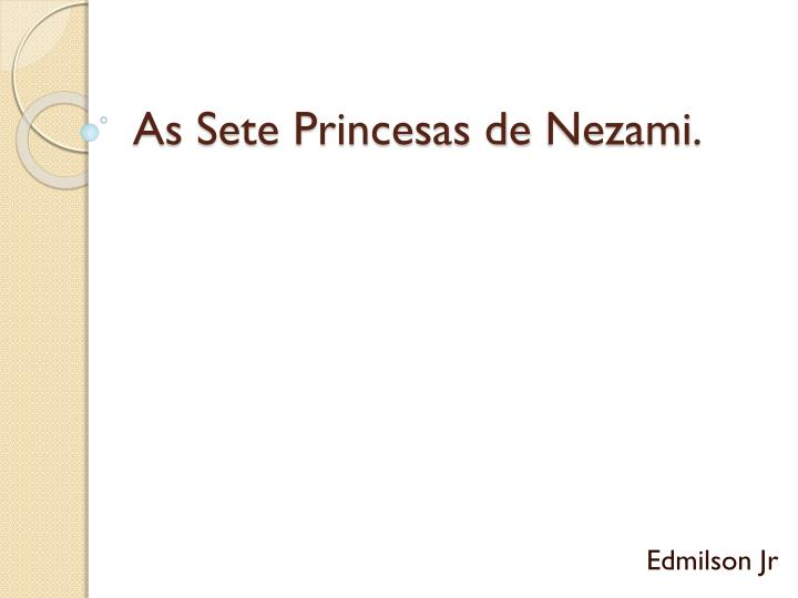 As sete princesas de nezami