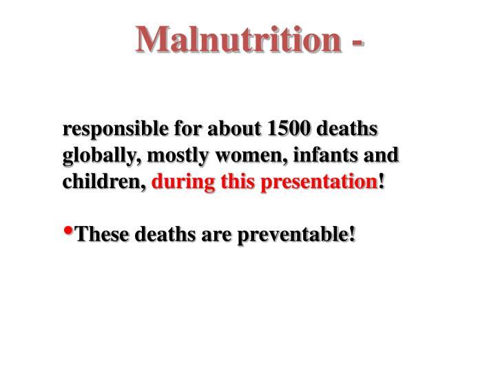 Malnutrition -