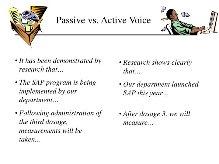 Passive vs. Active Voice
