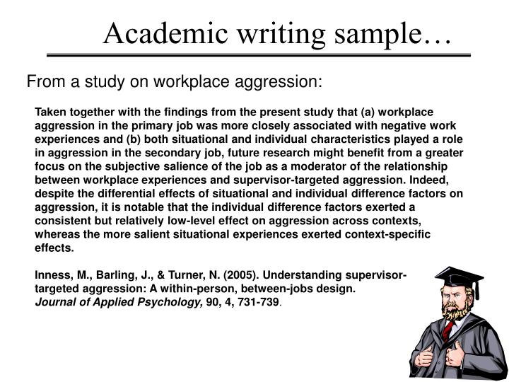 Academic writing sample…
