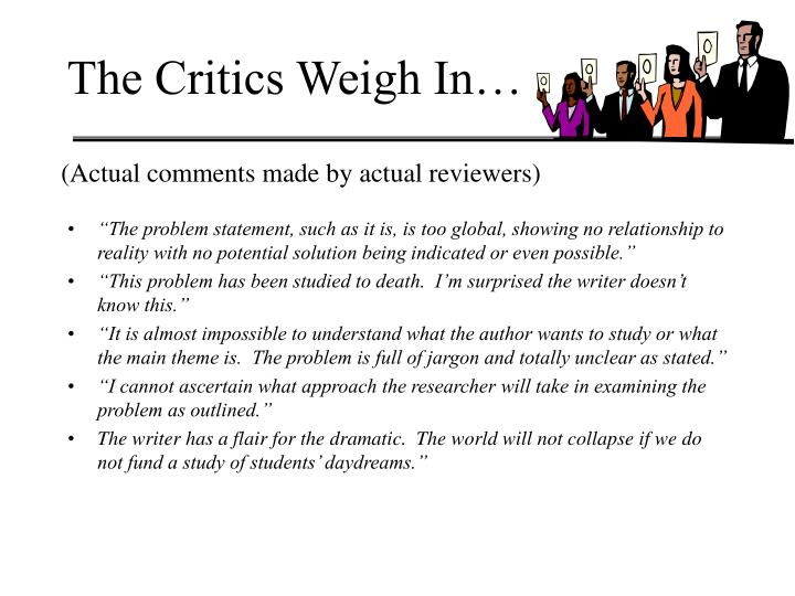 The Critics Weigh In…