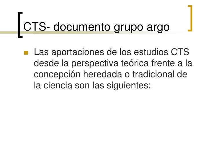 CTS- documento grupo argo