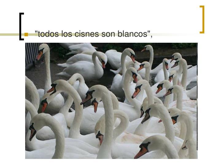 """""""todos los cisnes son blancos"""","""