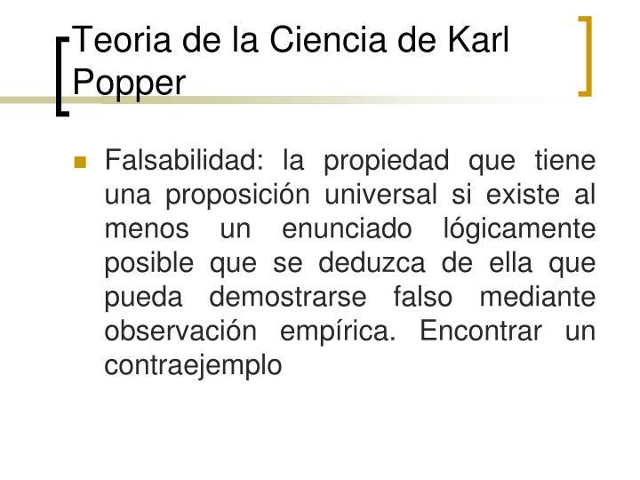 Teoria de la Ciencia de Karl Popper
