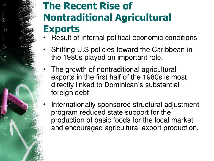 The Recent Rise of Nontraditional Agricultural Exports