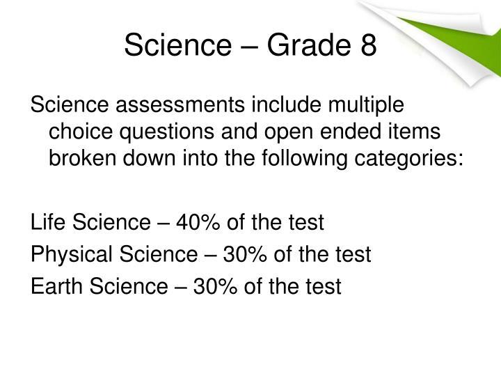 Science – Grade 8