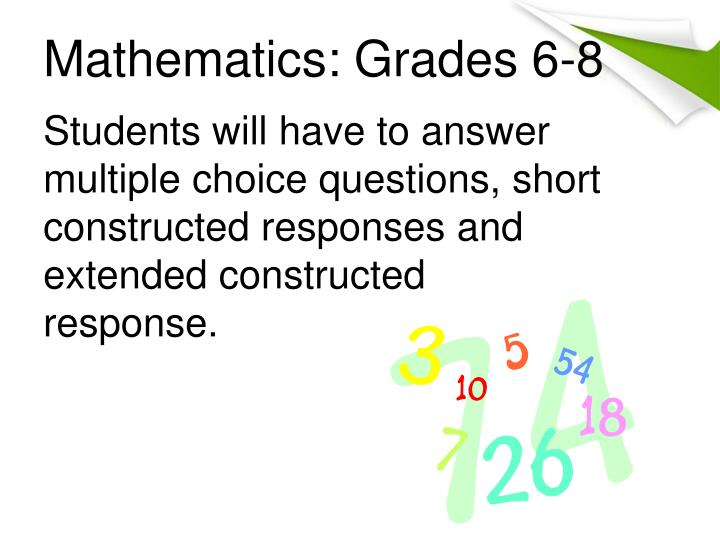 Mathematics: Grades 6-8