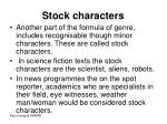 stock characters