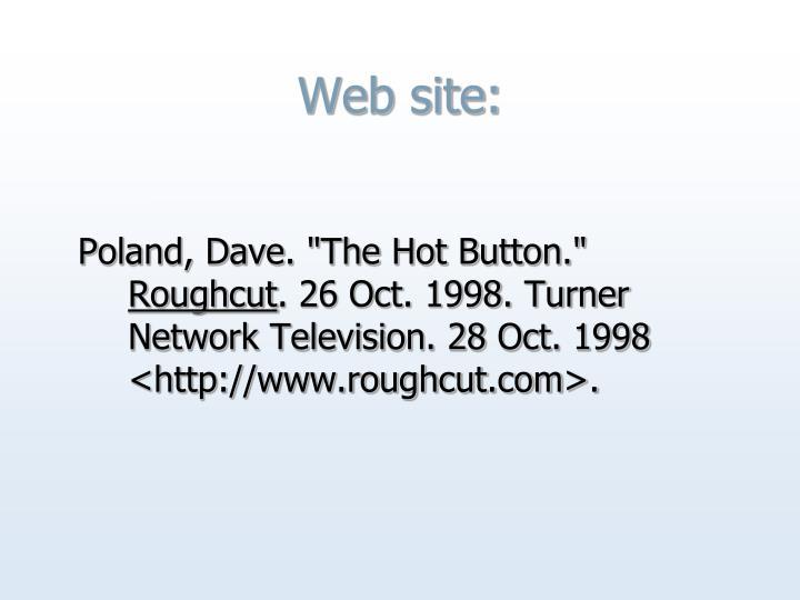 Web site: