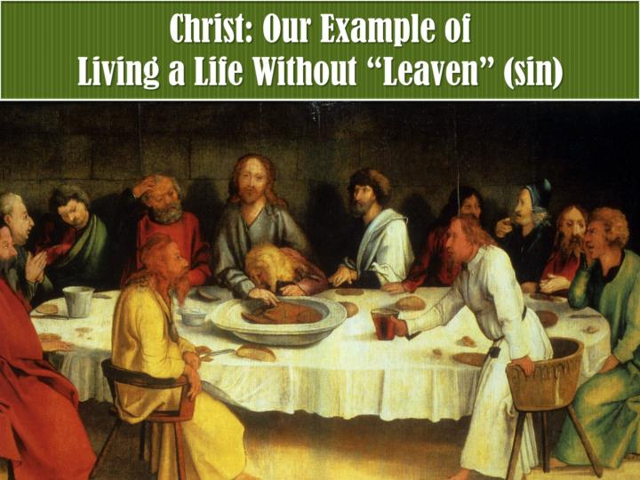 Christ: Our Example of