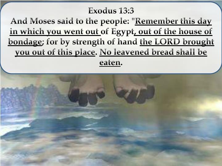 Exodus 13:3