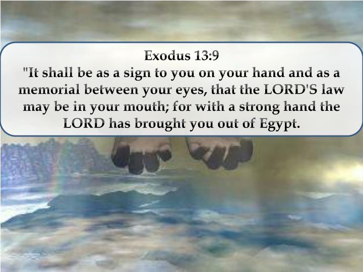 Exodus 13:9