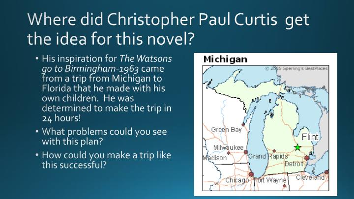 Where did Christopher Paul Curtis  get the idea for this novel?