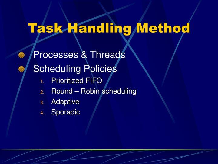 Task Handling Method