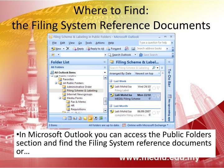 Ppt medius filing system softcopy hardcopy for Microsoft public documents