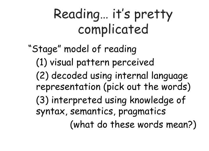 Reading… it's pretty complicated