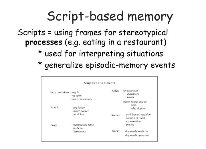 Script-based memory