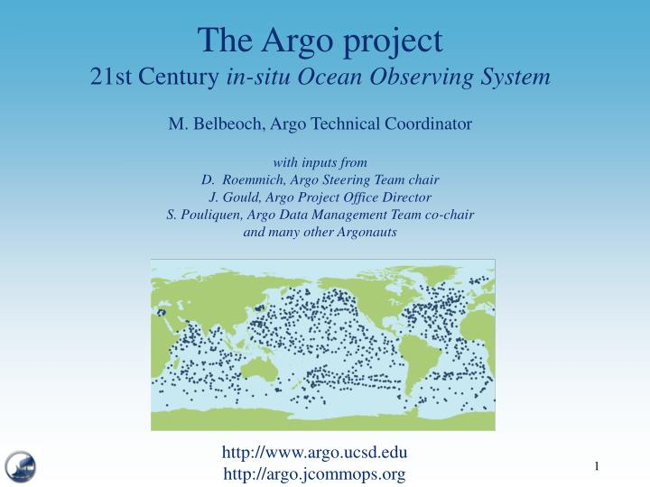 The Argo project