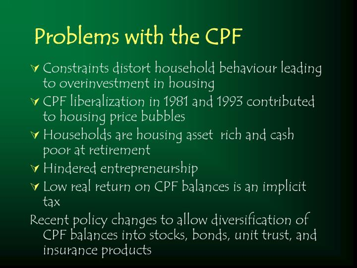 Problems with the CPF