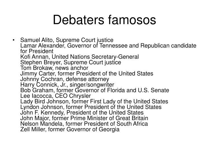 Debaters famosos