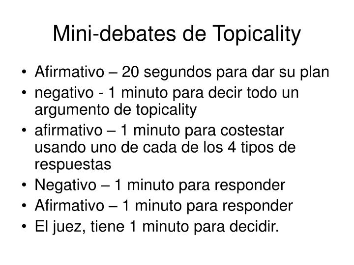 Mini-debates de Topicality