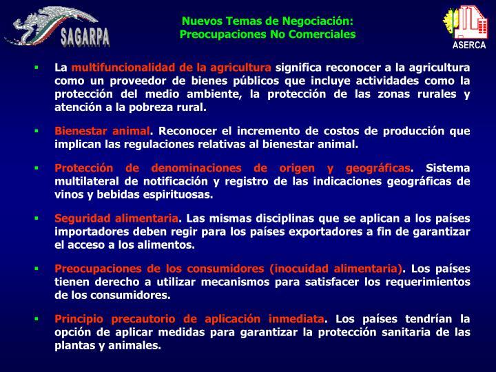 Nuevos Temas de Negociación: