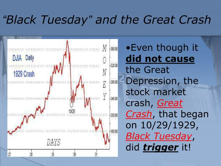 Black tuesday and the great crash