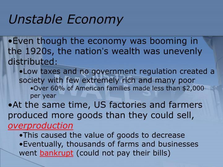 Unstable Economy