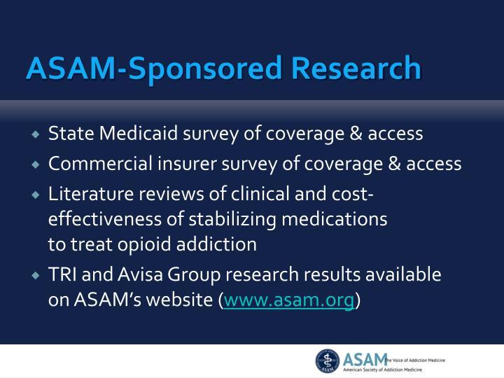 ASAM-Sponsored