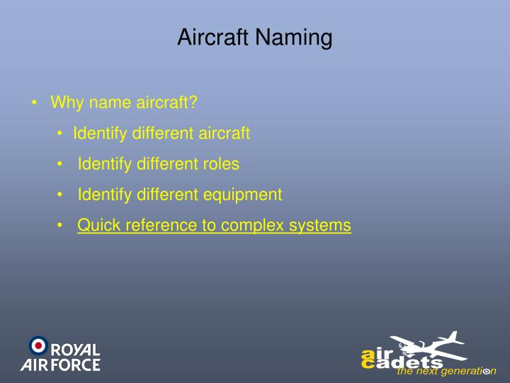 Aircraft Naming