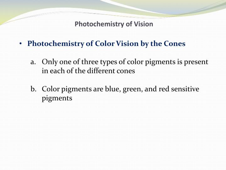 Photochemistry of Vision