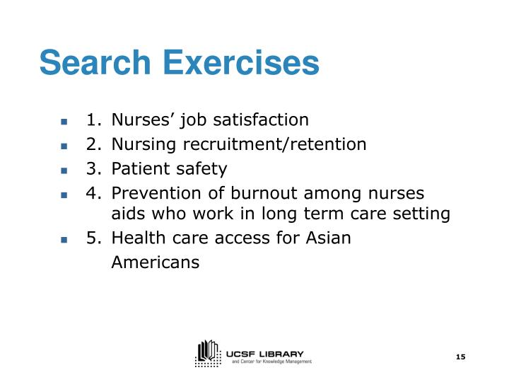 Search Exercises