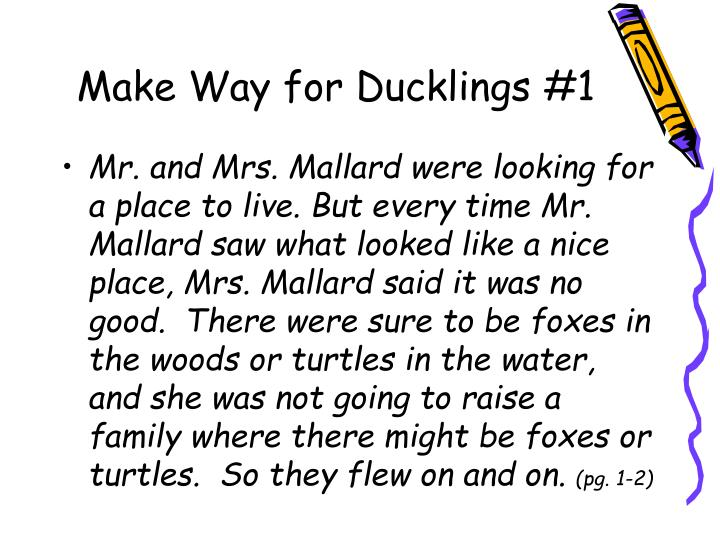 Make Way for Ducklings #1
