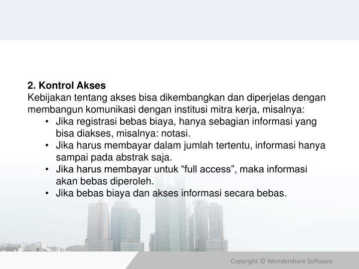 2. Kontrol Akses