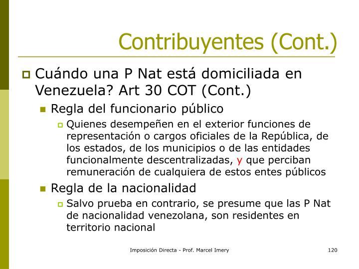 Contribuyentes (Cont.)