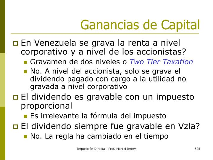 Ganancias de Capital